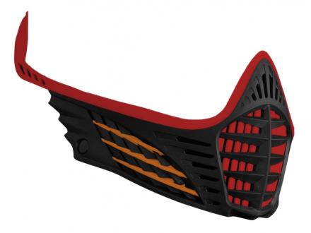 Virtue VIO Facemask - Red/Orange/Black