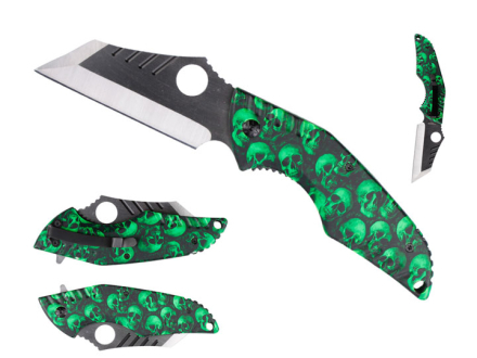 Tactical Green Skull Kniv - Zombie Edition