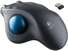 Trådlös Trackball M570 - Ergonomisk Mus - Trackman - 5 knappar - Svart