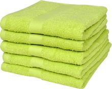 vidaXL Hemma duschhanddukar 5 st bomull 500 gsm 70x140 cm äppelgrön