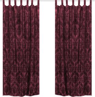vidaXL 2 burgunder taffeta barokk gardiner 140 x 225 cm