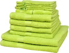 vidaXL Hemma handdukar 12 st bomull 500 gsm äppelgrön