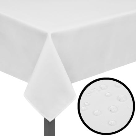 vidaXL 5 Pöytäliinaa Valkoinen 250 x 130 cm