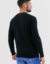 Brave Soul 100% cotton crew neck knitted jumper in black