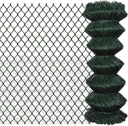 vidaXL Flätverksstängsel galvaniserat stål 1x15 m grön
