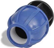 vidaXL PEM-slangekobling 1-vejs 16 bar 20mm Pakke med 2