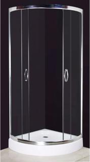 vidaXL brusekabine 80 x 80 cm halvrund