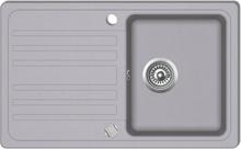 vidaXL Diskbänk i granit med en diskho och avlopp Grå