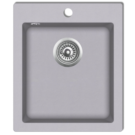 vidaXL nedfældningsvask til køkkenet enkeltvask granit grå