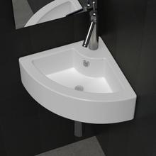 vidaXL Vask med overløpsfunksjon 45x32x12,5 cm hvit