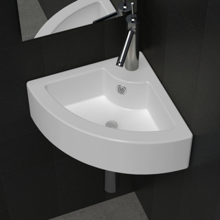 vidaXL håndvask med overløb 45 x 32 x 12,5 cm hvid