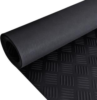 vidaXL Skridsikker gulvmåtte af gummi 2 x 1 m ternet mønster
