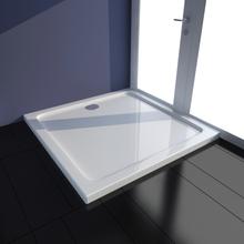 vidaXL kvadratisk ABS brusekabinebund 80 x 80 cm hvid