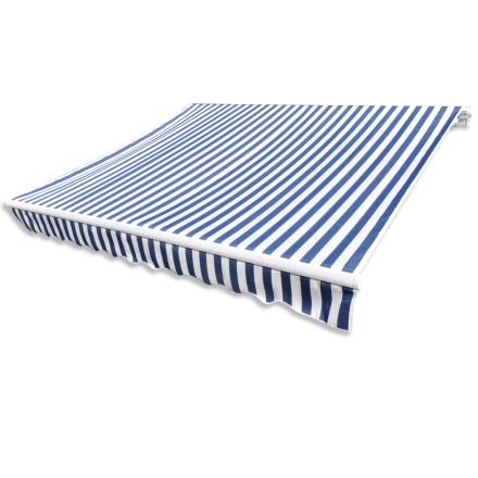 vidaXL Markise stribet blå og hvid 4x3m