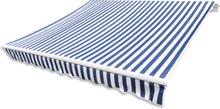 vidaXL Markisduk Randig blå och vit 4x3m (utan ram)