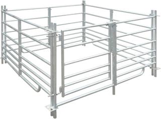 vidaXL fåreindhegning med 4 paneler galvaniseret stål 137x13 x92 cm