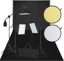 vidaXL Studioutrustning svart