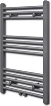vidaXL Handdukstork centralvärme element rak grå 500 x 764 mm