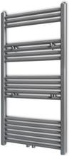 vidaXL Handdukstork centralvärme element rak grå 600 x 1160 mm