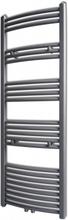 vidaXL Handdukstork centralvärme element båge grå 500 x 1424 mm