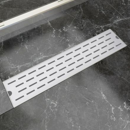 vidaXL Lineært bruseafløb linjedesign 530x140 mm rustfrit stål