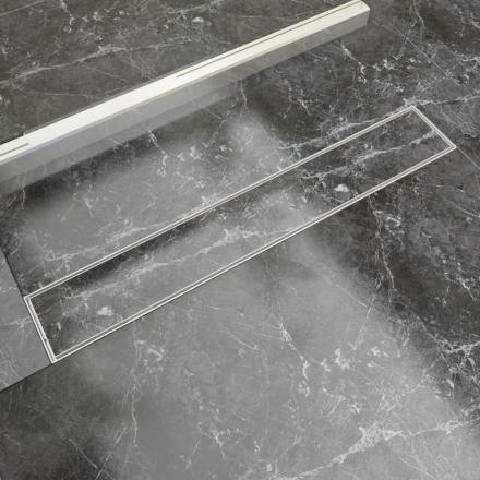 vidaXL Lineært bruseafløb 730x140 mm rustfrit stål