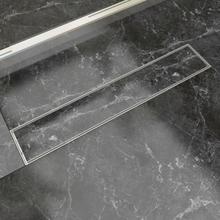 vidaXL Lineært bruseafløb 630x140 mm rustfrit stål