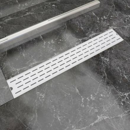 vidaXL Lineært bruseafløb linjedesign 730x140 mm rustfrit stål