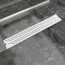 vidaXL Lineært bruseafløb bølgedesign 730x140 mm rustfrit stål