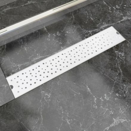 vidaXL Lineært bruseafløb bobledesign 630x140 mm rustfrit stål