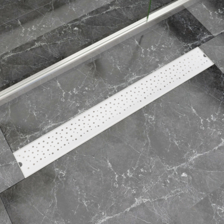 vidaXL Lineært bruseafløb 930x140 mm rustfrit stål