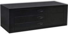 vidaXL værktøjskasse 3 skuffer metal sort