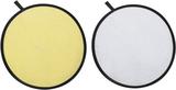 2-i-1 reflexskärmar 80 cm guld och silver