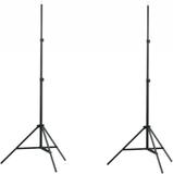 vidaXL Ljusstativ 2 st justerbar höjd 78 - 210 cm