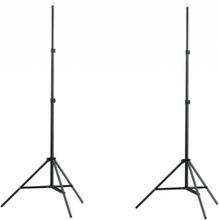 vidaXL Lampstativ 2 st justerbar höjd 78 - 210 cm
