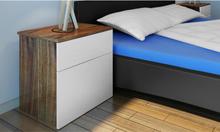 vidaXL Sängbord 2 st med en låda brun/vit