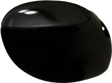 vidaXL Väggtoalett äggformad svart