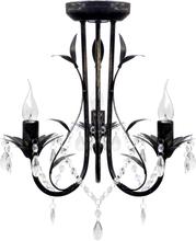 vidaXL Takkrona i Art Nouveau-stil 3-armad svart