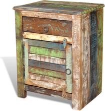 vidaXL Byrå med 1 låda 1 lucka återvunnet trä