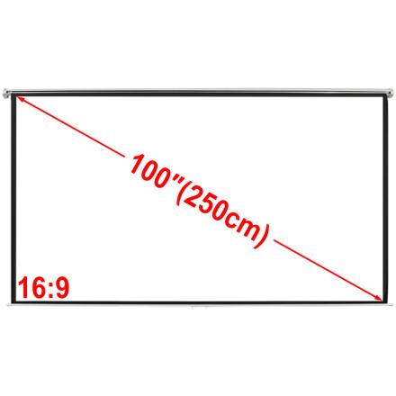 vidaXL Manuell Projeksjonsskjerm 200 x 153 cm matt hvit 4:3
