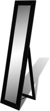 vidaXL Spejl selvstændig fuld længde sort