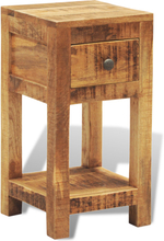 vidaXL Sängbord med 1 låda massivt mangoträ
