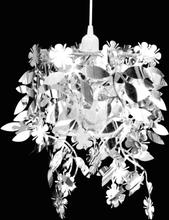 vidaXL Taklampa Paljettlampa silverfärg 21,5x30 cm