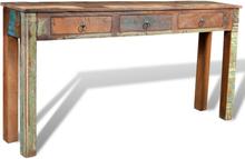 vidaXL Sivupöytä 3 vetolaatikolla Kierrätetty puu
