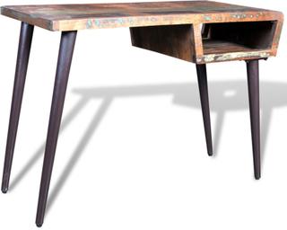 vidaXL Regenereret træbord med jernben