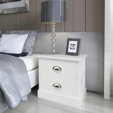 vidaXL Nattduksbord i fransk stil 2 st vit