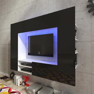 vidaXL Sort Højglans Entertainment Center LED TV Vægenhed 169,2 cm