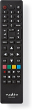 Universal fjernbetjening | Programmerbar | Antal enheder: 4 | Klar layout | Infrarød | Sort