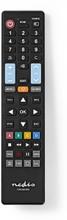 Erstatnings Fjernbetjening | Egnet til: LG / Panasonic / Philips / Samsung / Sony | Forprogrammeret | Antal enheder: 1 | Klar layout / 5-i-1-design | Infrarød | Sort