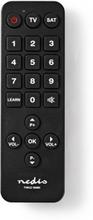 Universal fjernbetjening | Forprogrammeret | Antal enheder: 2 | Store Knapper | Infrarød | Sort
